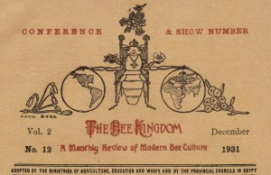 The Bee Kingdom masthead by Paul Beer (Vol.2, no.12, December 1931)