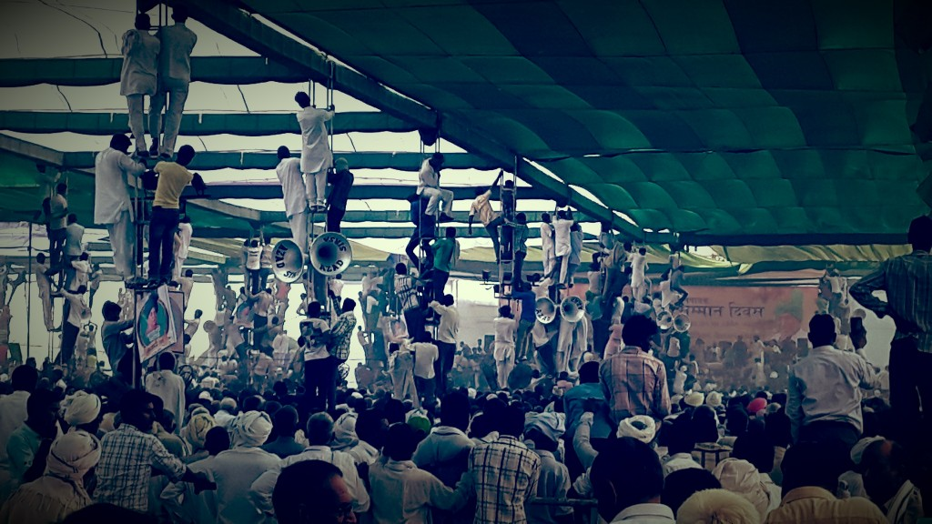 Chautala election rally (author's photo).